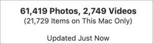 mac911 photos total library sync