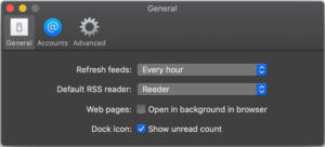 netnewswire 5 general settings