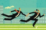 pass the baton takeover digital transformation executive running running race relay by retrorocket