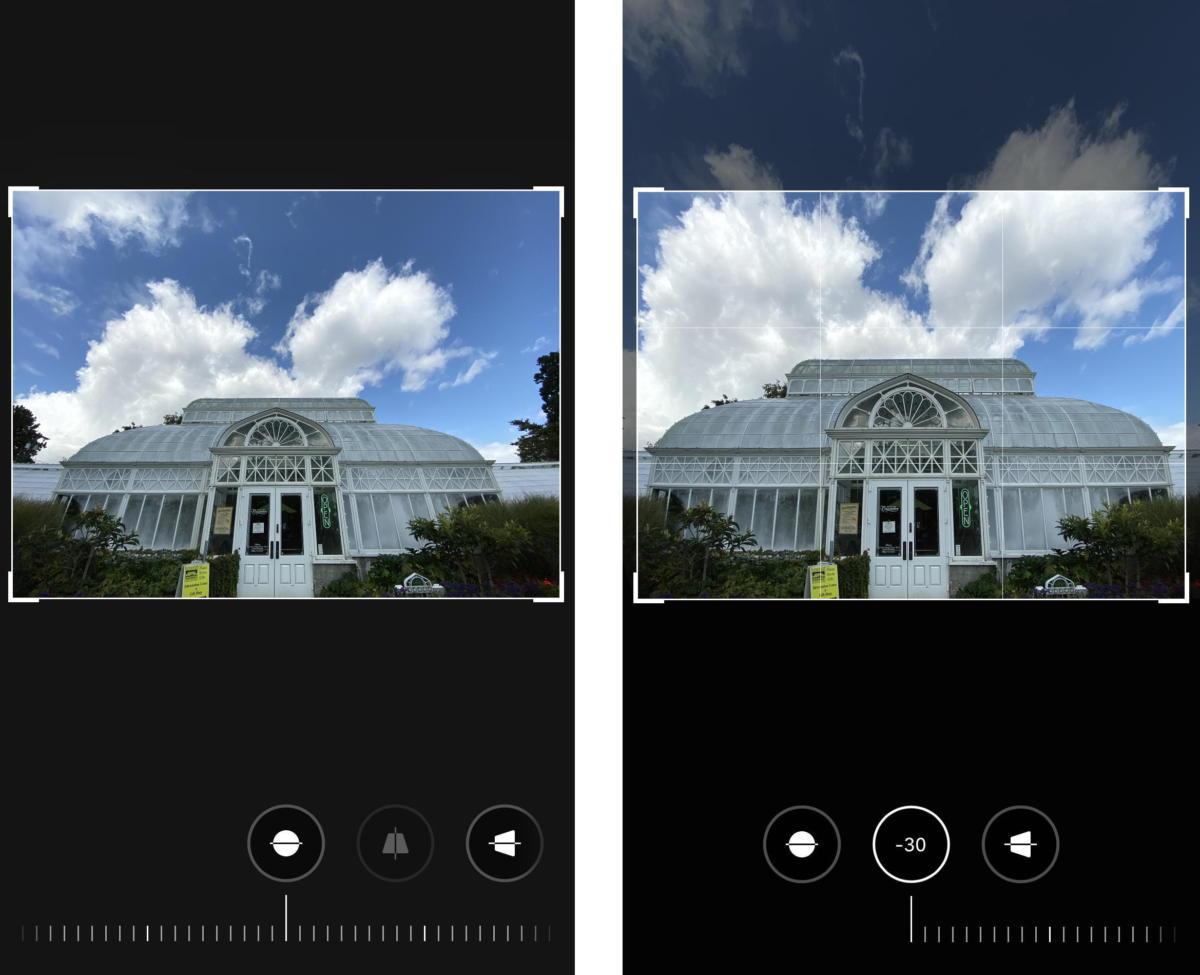 photos editing tilt side by side