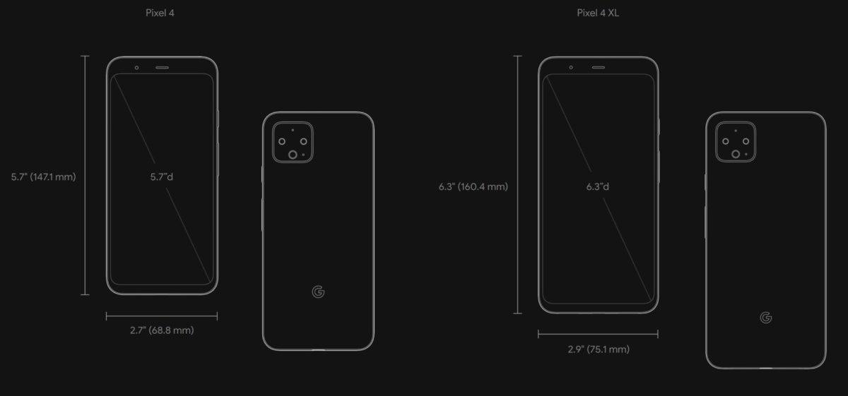 pixel 4 dimensions