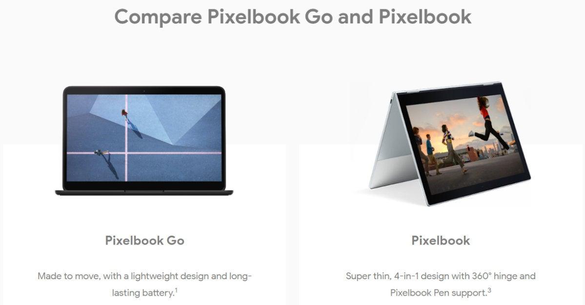 Pixelbook Go-Pixelbook Comparison