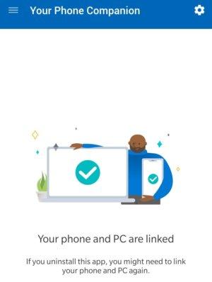 Microsoft Windows 10 Your Phone Companion