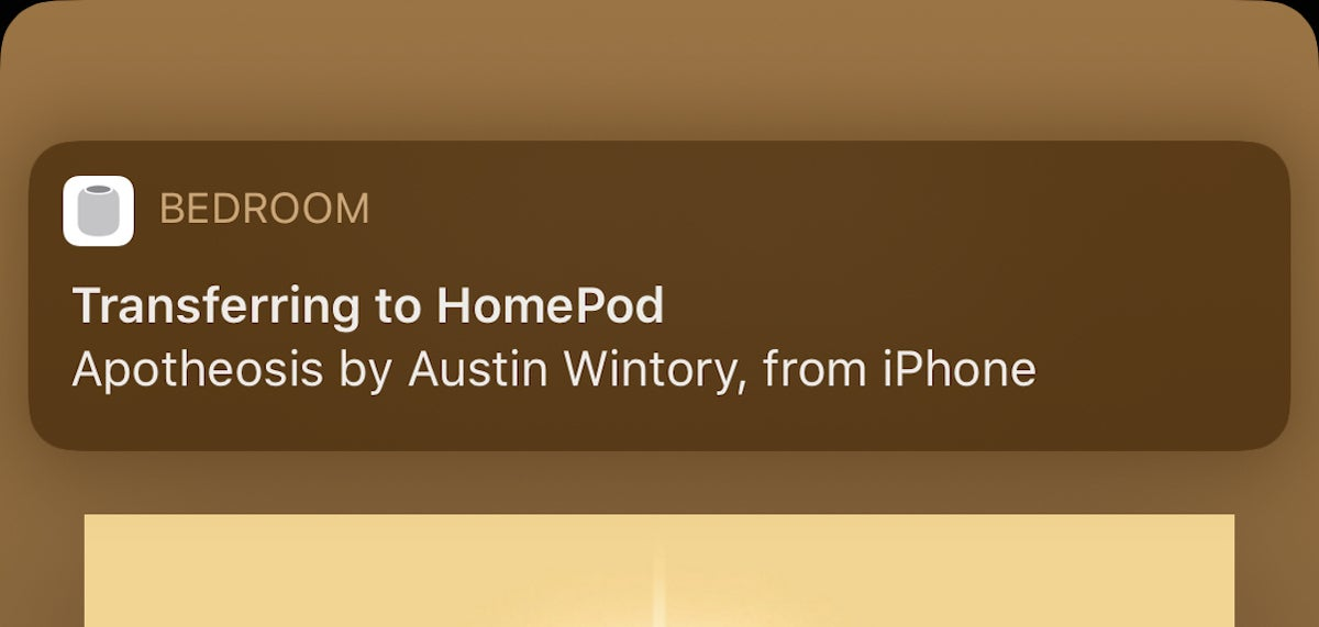transferring to homepod handoff