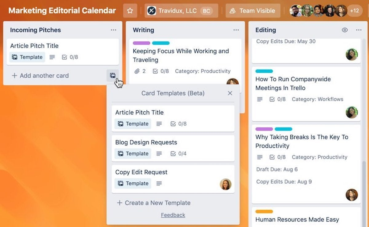 trello looks to streamline tasks with template galleries