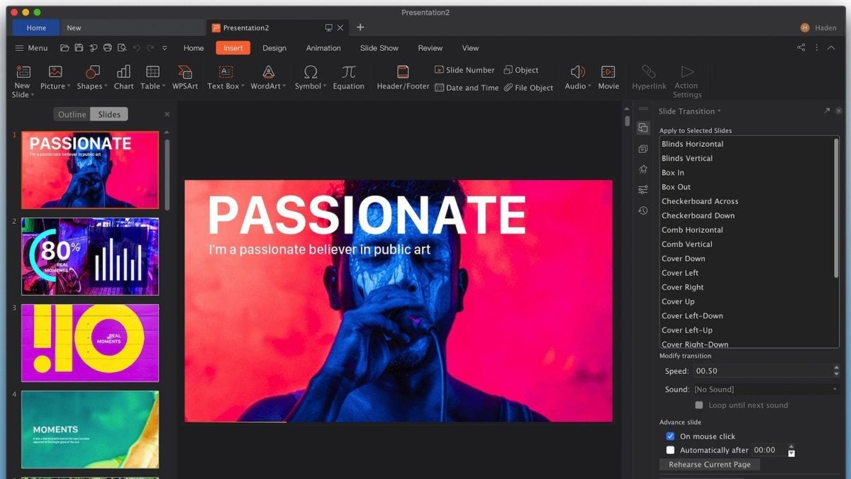 wps office presentation