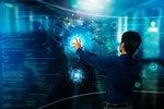 ai artificial intelligence man graphic interface data