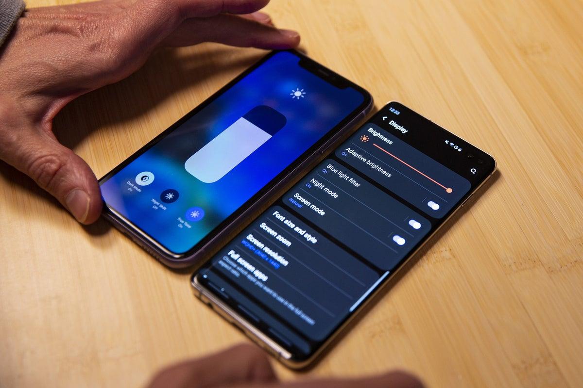android vs iphone brightness