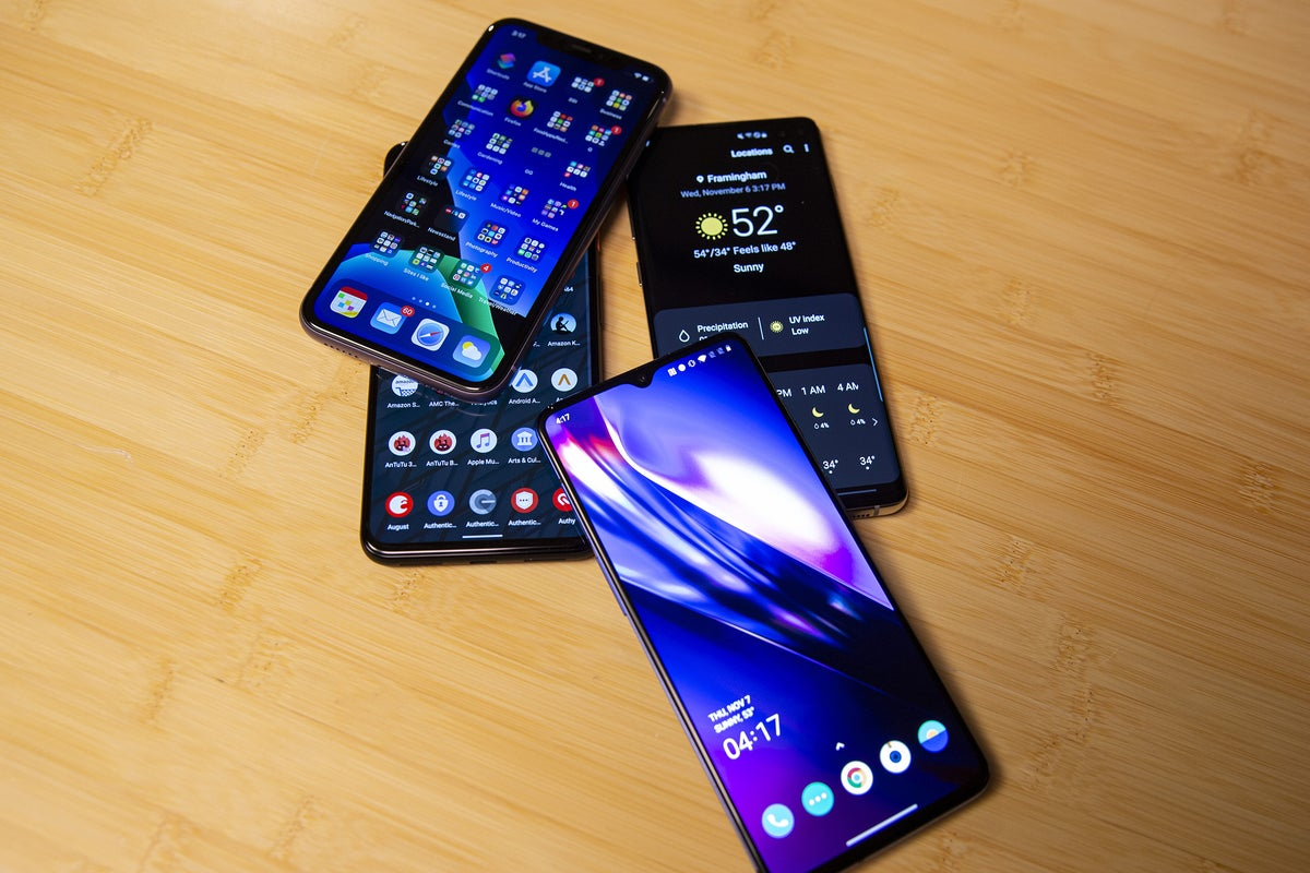Iphone 11 Vs Oneplus 7t Galaxy S10 Pixel 4 Xl A Surprising Champ Pcworld