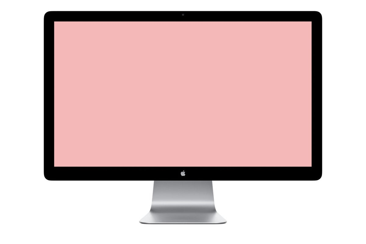 apple display pink screen