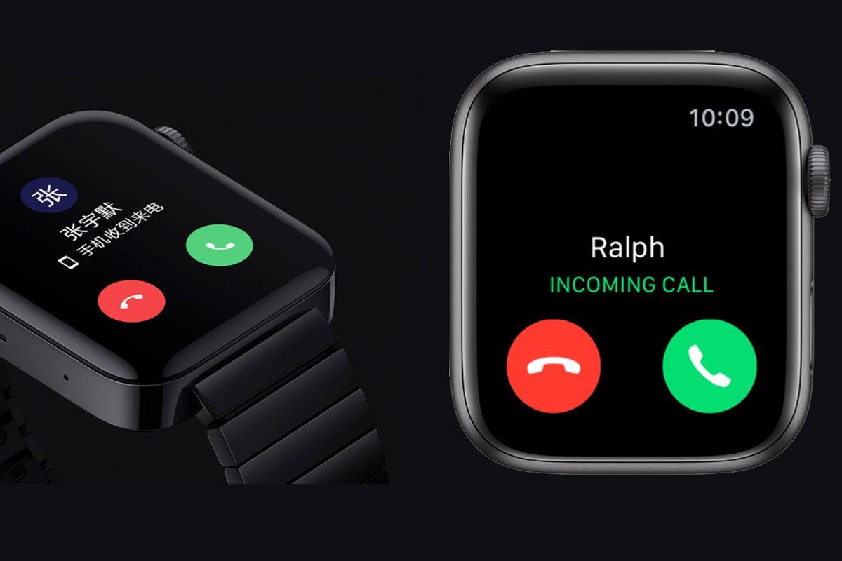 apple watch mi watch calls