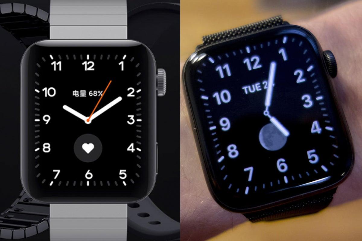 apple watch mi watch clock