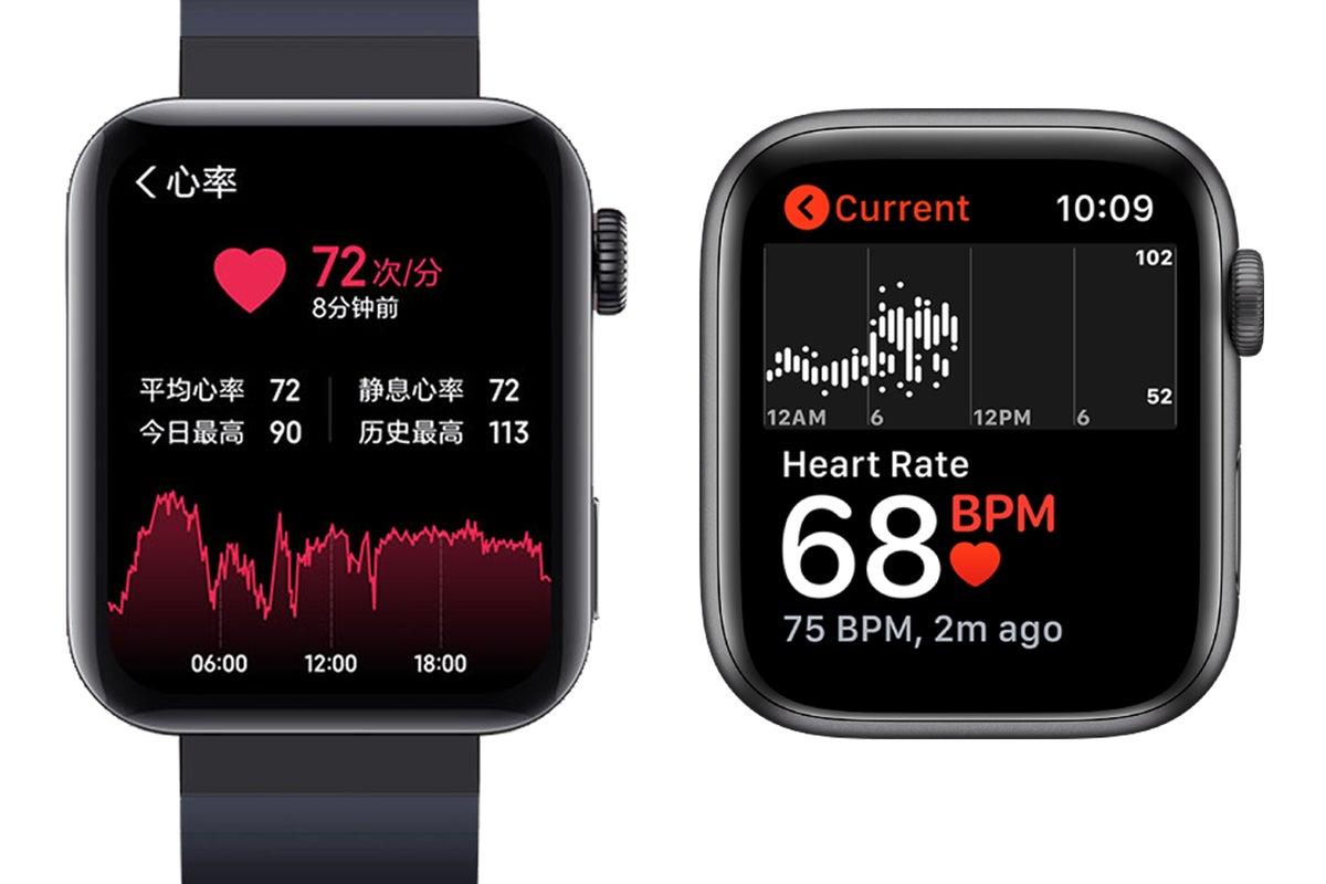 apple watch mi watch heart