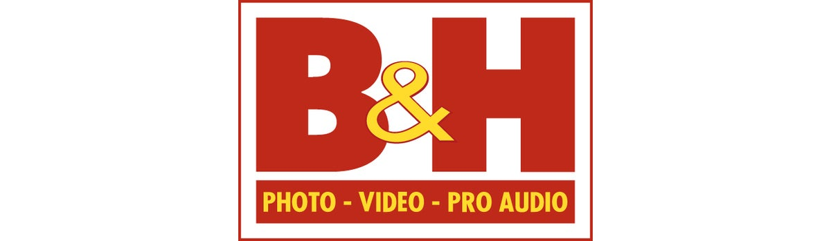 b and h photo logo banner