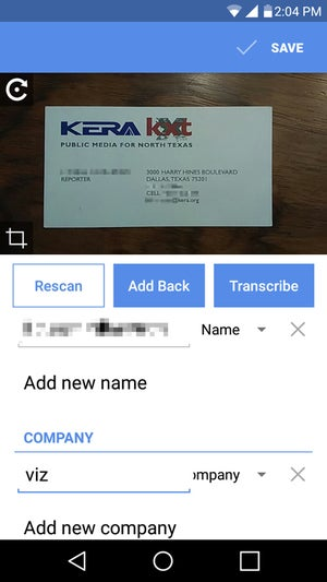 Review 4 Business Card Scanning Apps For Android And Ios