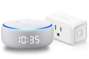 echo dot with clock smart plug