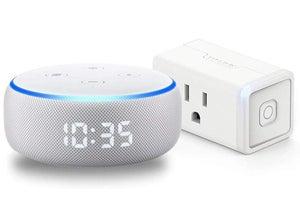 echo dot with clock smart plug