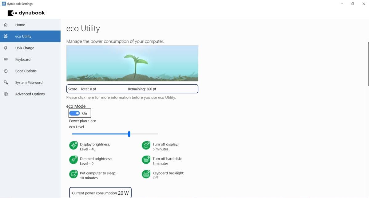 dynabook eco utility