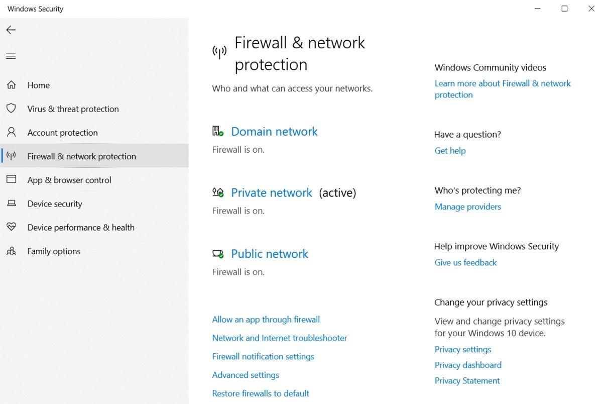 firewallnetworkprotectionwsecurity