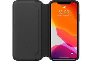 iphone 11 pro max leather folio case