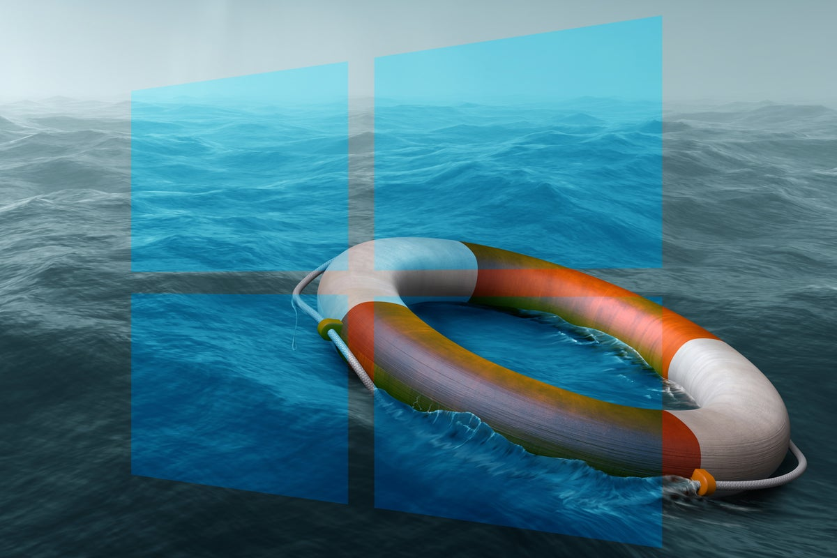Windows logo / life preserver / rescue / recovery / fix / resolve / solution