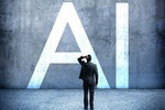 man concerned artificial intelligence ai sign