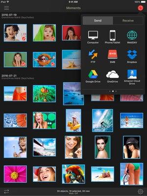 photosync 4.0 ipad send targets