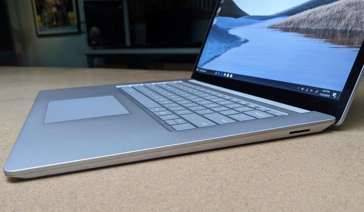 Microsoft Surface Laptop 3 Ice Lake right side
