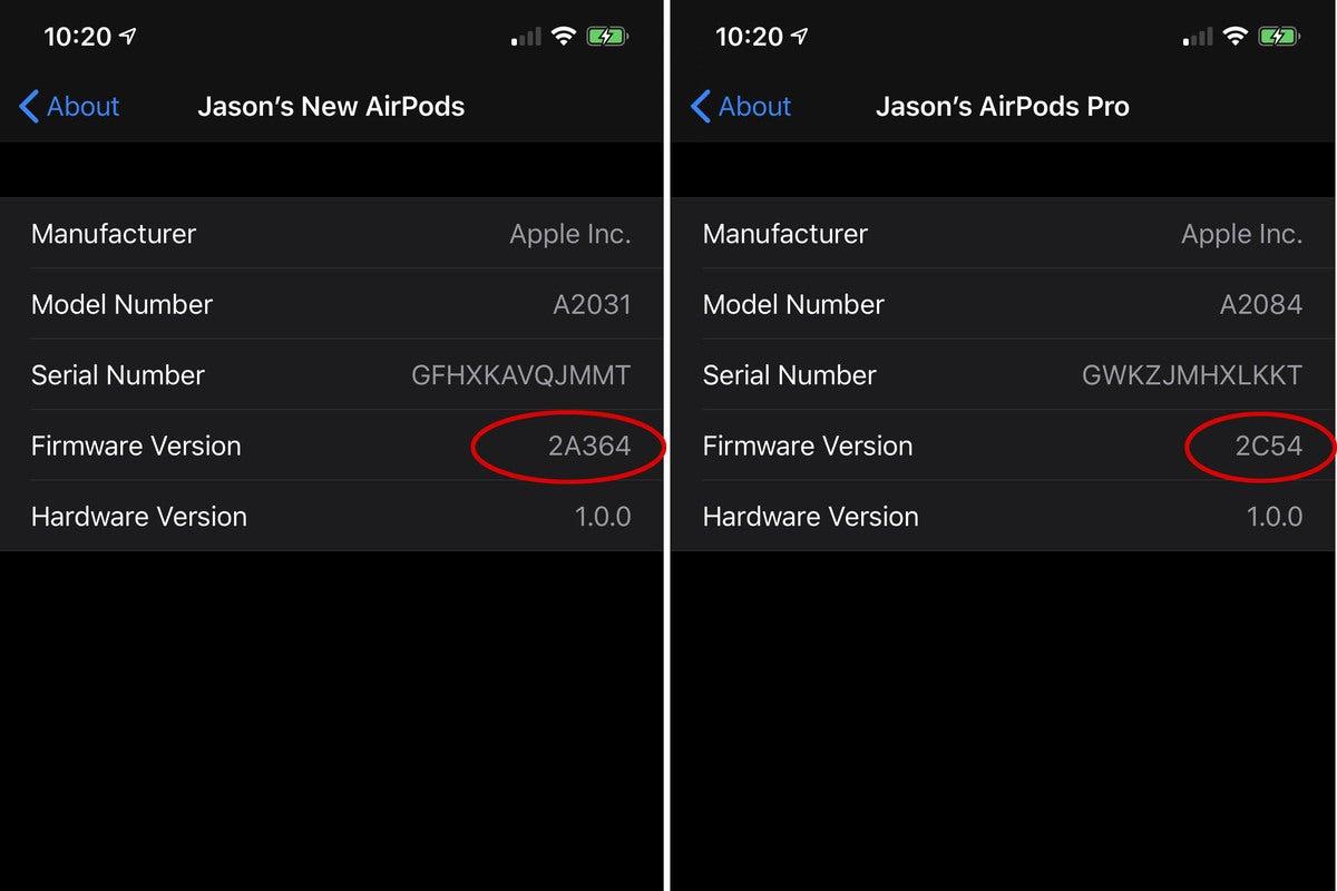 airpods firmware update