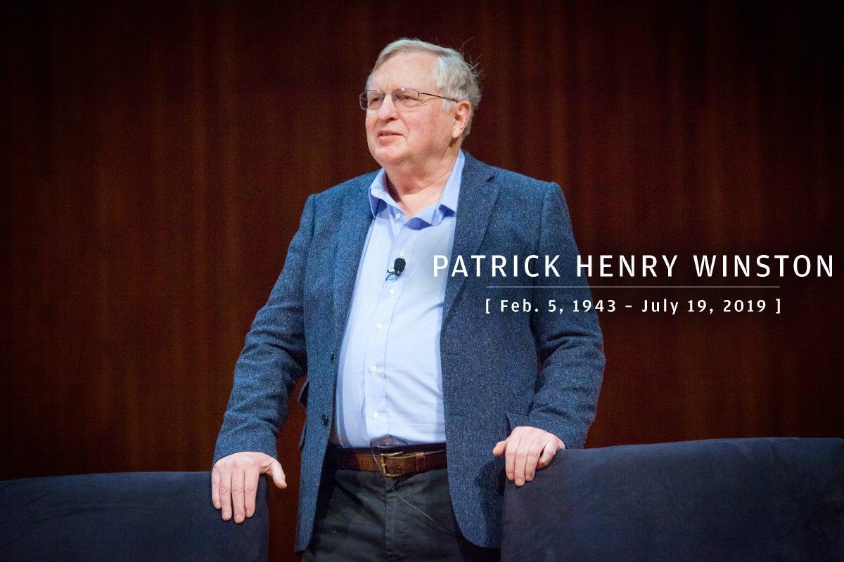 CW  >  In Memoriam 2019  >  Patrick Henry Winston