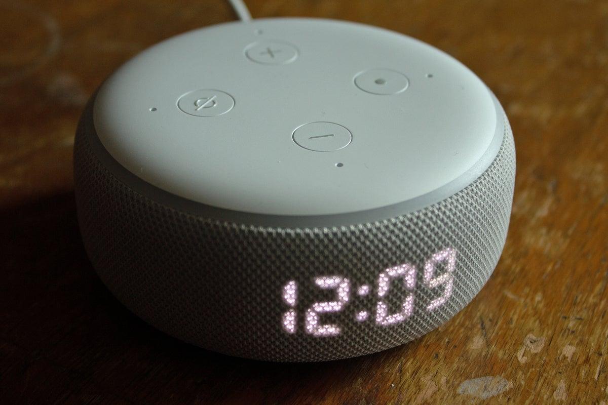 echo dot w clock buttons