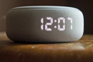 echo dot w clock front