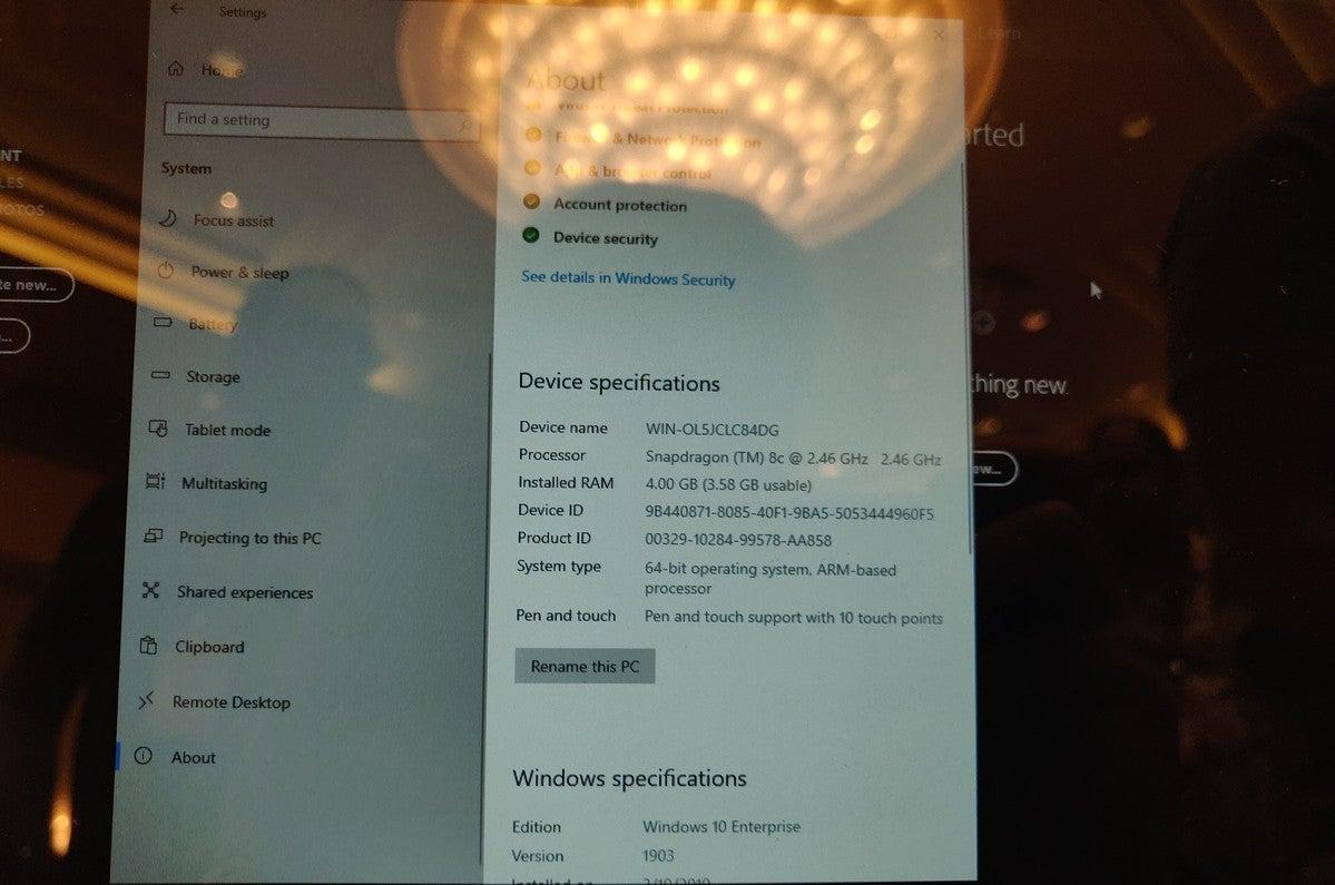 Qualcomm Snapdragon 8c system