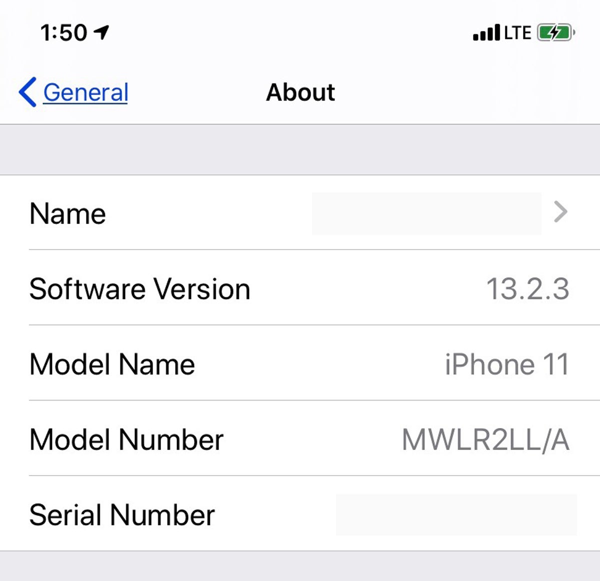 ios13 model number