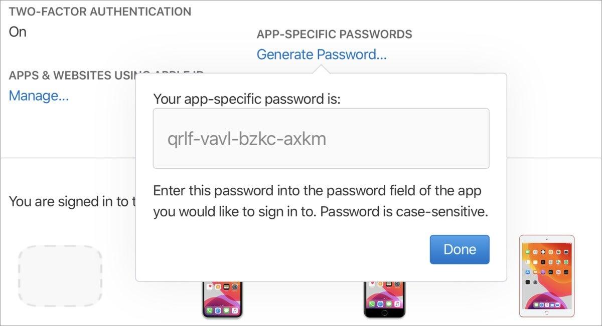 mac911 app specific password