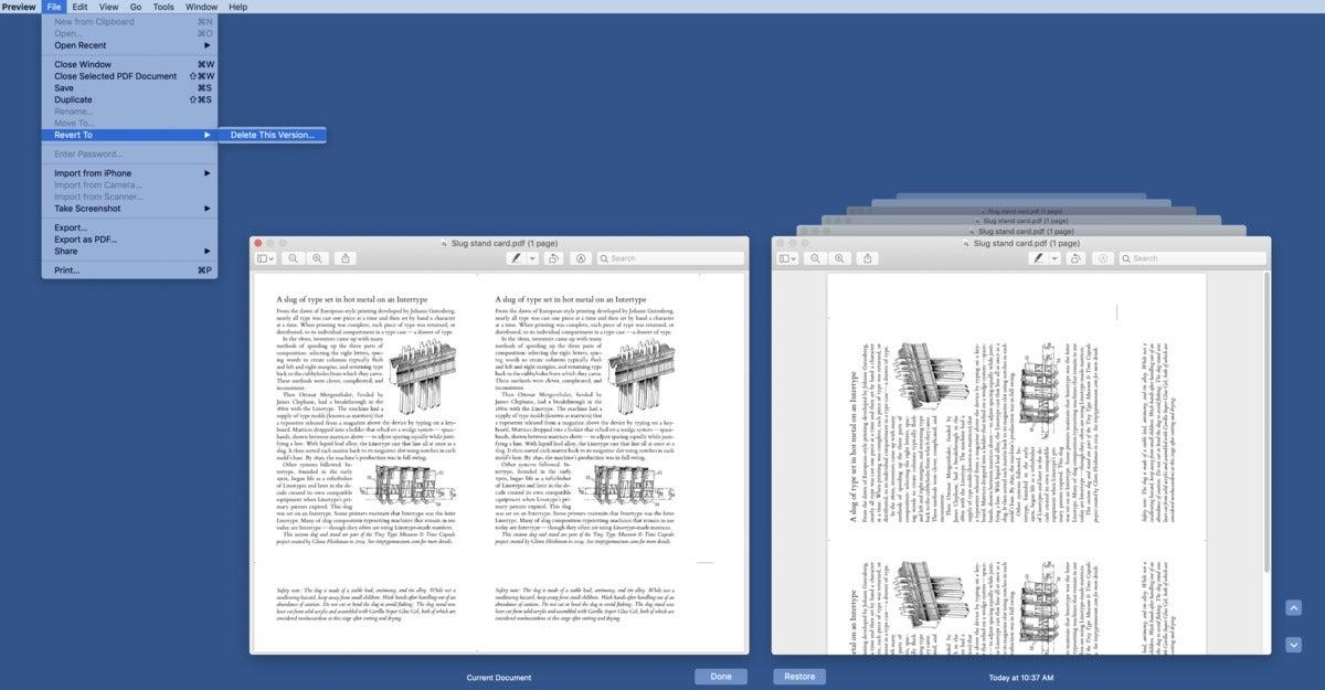 mac911 delete old versions