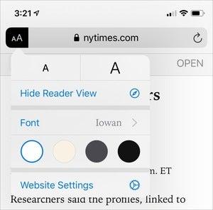 mac911 reader view ios