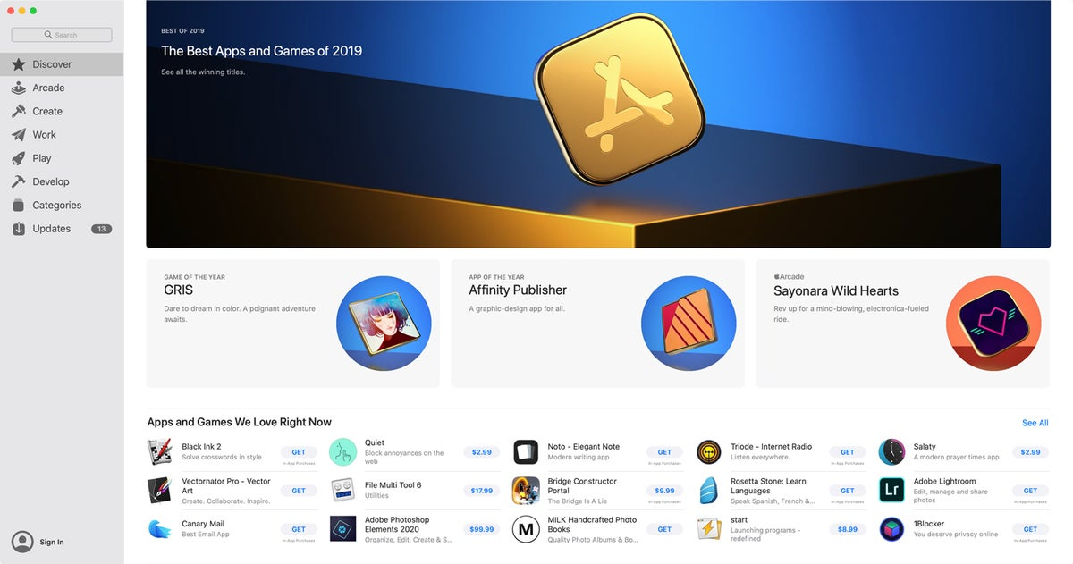 macos catalina app store 2019
