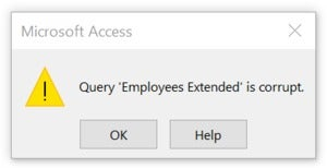 query is corrupt 1