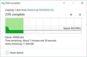 wd sn550 slowdown long copy