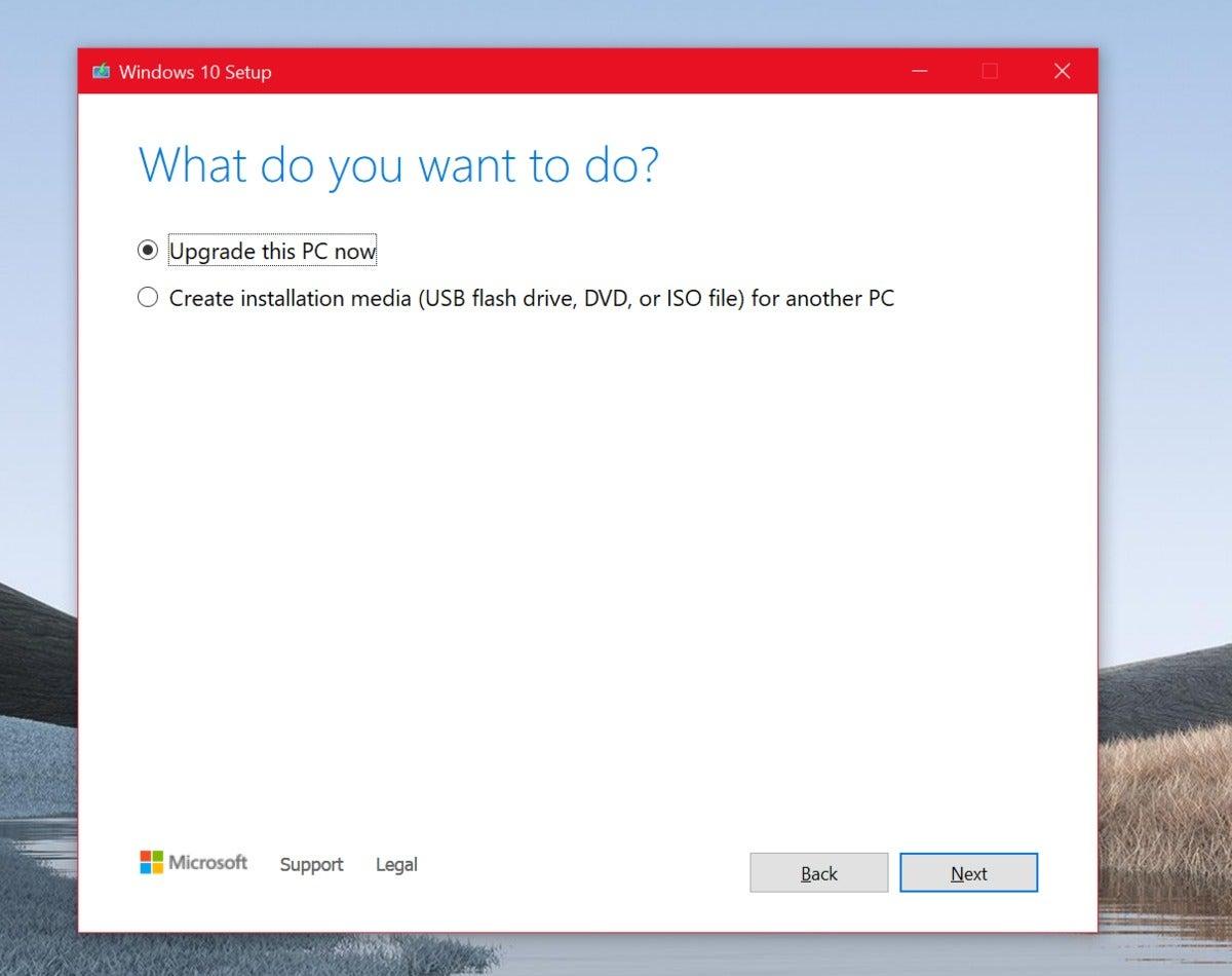 công cụ nâng cấp windows 10