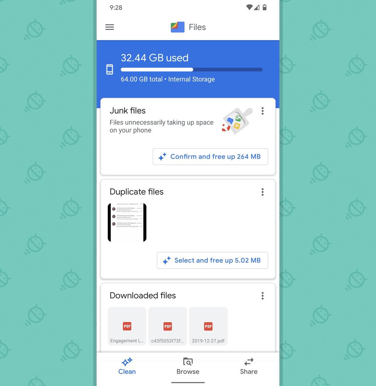 Optimización del teléfono Android: almacenamiento