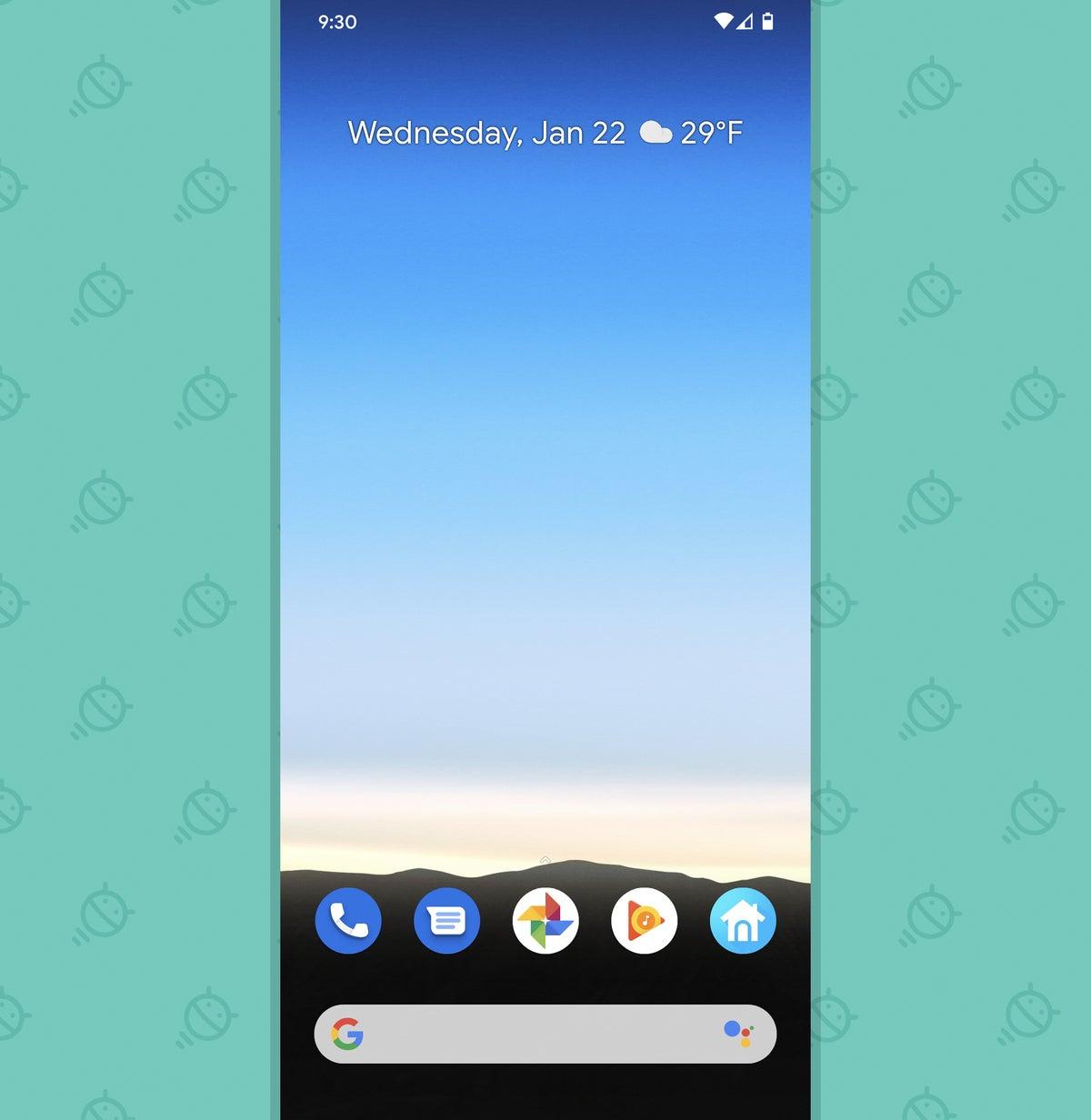 Optimización del teléfono Android: pantalla de inicio