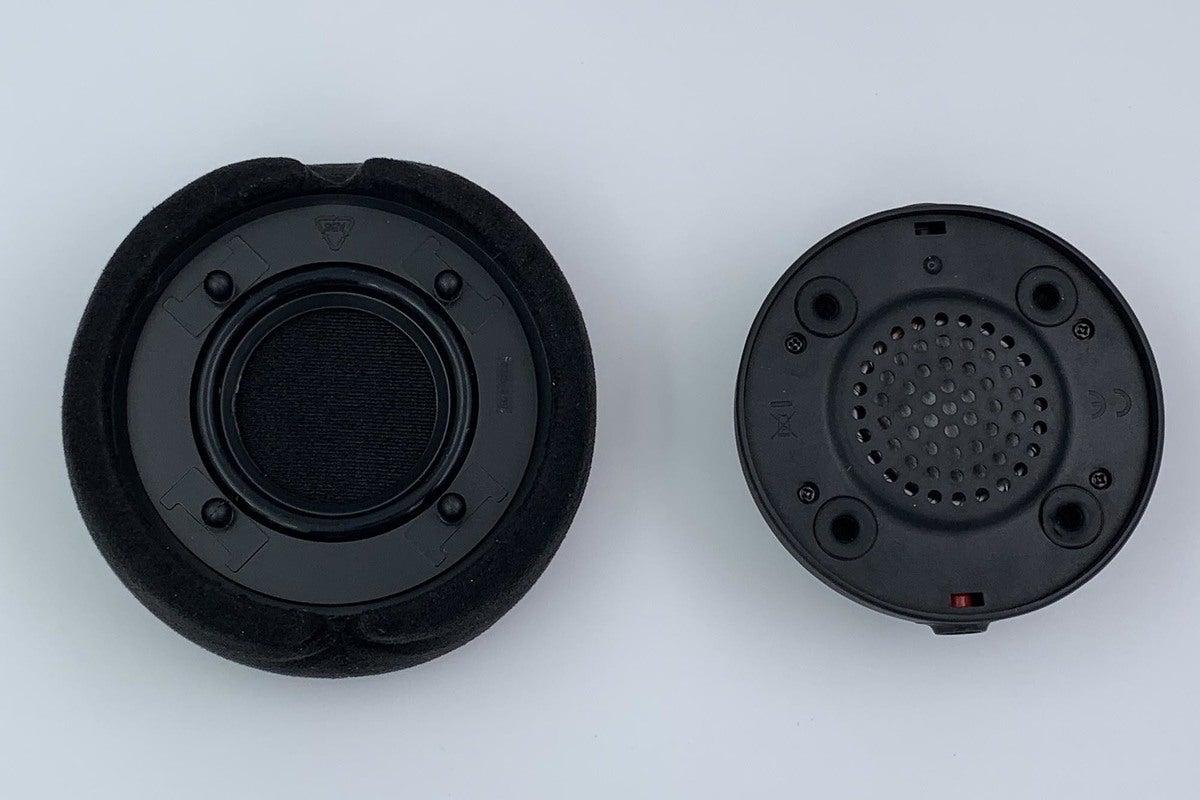 The Alcantara memory foam ear pads snap into the drivers easily.