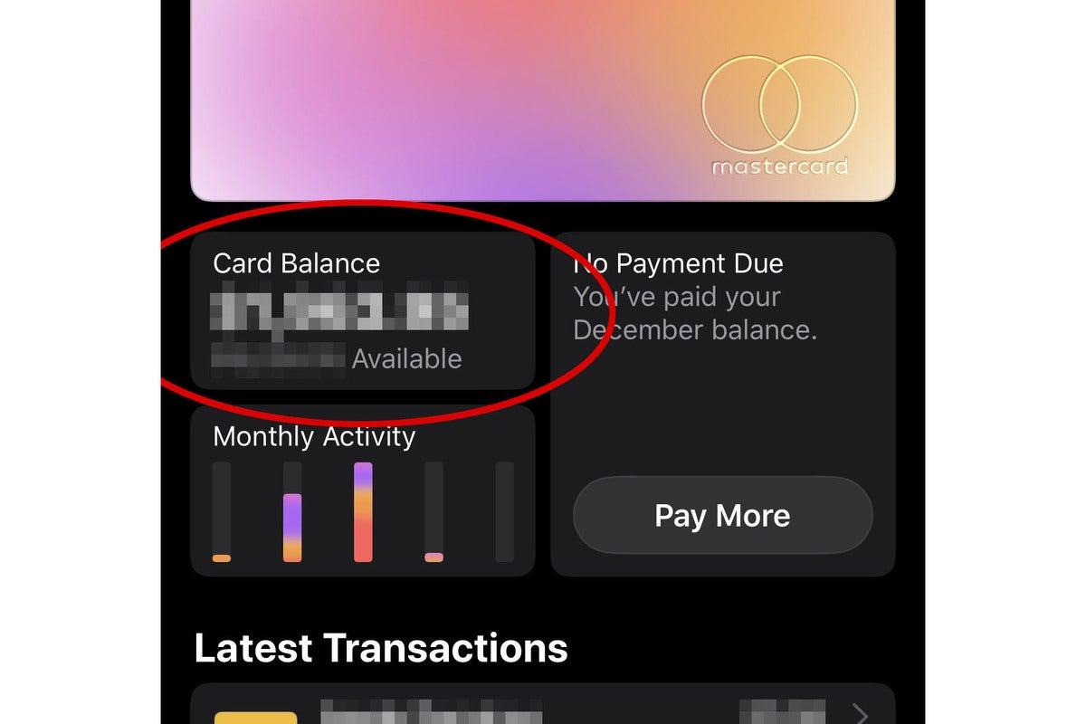 apple card export balance