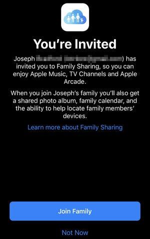 apple tv invite