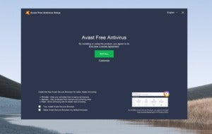 avast free antivirus install screen