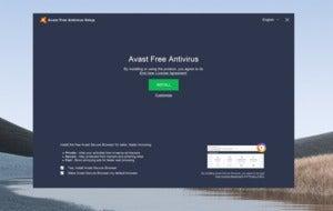 avast free antivirus install screen