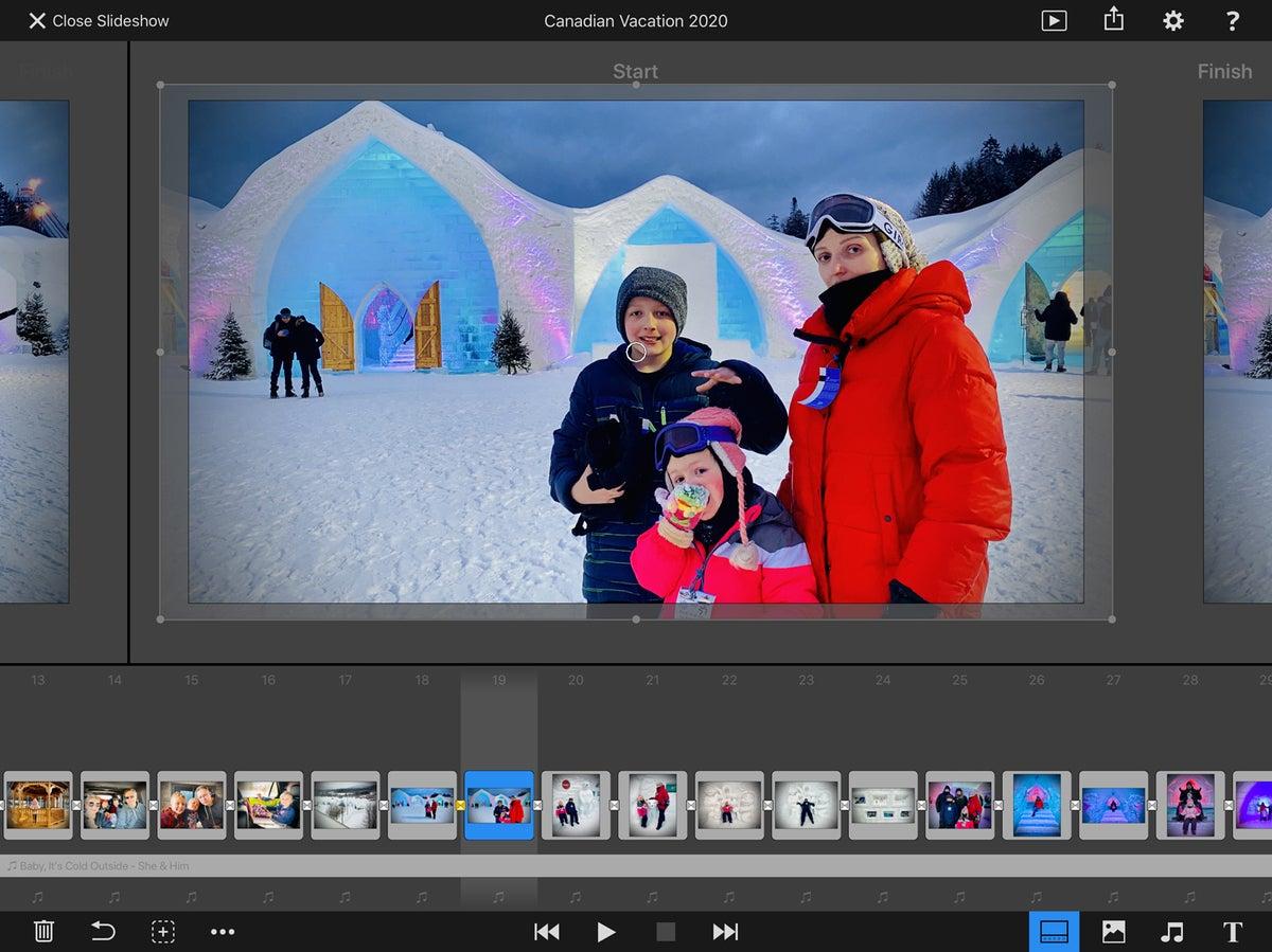 fotomagico for ipad storyboard view