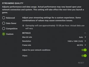 geforce now streaming quality
